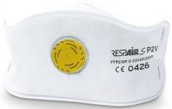 Respirátor RESPAIR S FFP2V SLIM skládaný s výdechovým ventilem jednotlivě balený