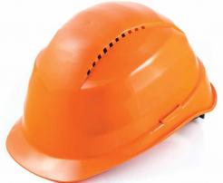 Ochranná přilba ROCKMAN C6R HDPE 12 ventilačních otvorů látkový kříž račna oranžová