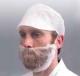 Maska jednorázová na vousy bílá