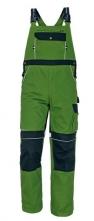 Montérkové kalhoty STANMORE laclové středně zelené/černé velikost 50