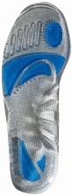Vložka do obuvi gelová komfortní pro pohlcení nárazů šedá velikost M 40-44