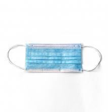 Roušky CXS MEDIC zdravotnická vrstvená jednorázová kulatá textilní guma za uši 10 ks modrá