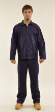 Montérkový komplet STANDARD blůza s knoflíky a kalhoty do pasu na šňůrku tmavě modrý velikost 54
