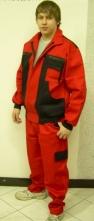 Montérkový komplet KOLÍN lacl červeno/černý velikost 48