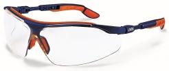 Brýle UVEX i-vo Supravision Excellence modro/oranžové nastavitelné straničky nemlživé nepoškrábatelné čiré
