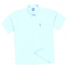 Košile OXFORD s kapsou na prsou krátký rukáv bílá velikost 44