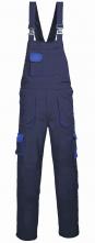 Montérkové kalhoty PW TEXO Contrast s náprsenkou šle BA/PES tmavě modro/světle modré